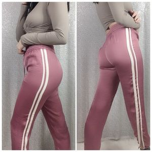 American Eagle Rose Satin Track Pants Size XS